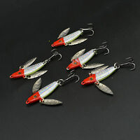 5pcs Lot Mini Ice Fishing Lures Metal Baits Lead Jig Fish Hooks Tackle 5cm/7g