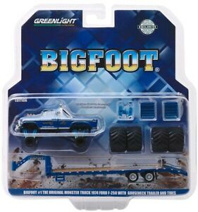 Greenlight-1-64-1974-Ford-F-250-Monster-Truck-Bigfoot-1-Gooseneck-Trailer-30054
