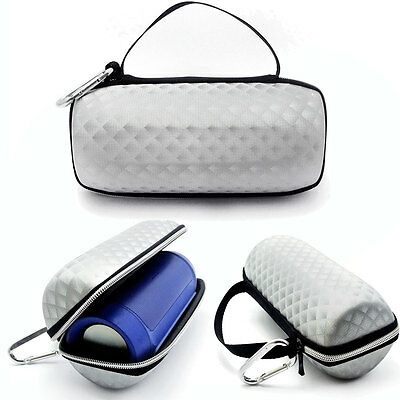 Silver Protective Travel Case Cover Bag Pouch for JBL Charge 2 Bluetooth Speaker