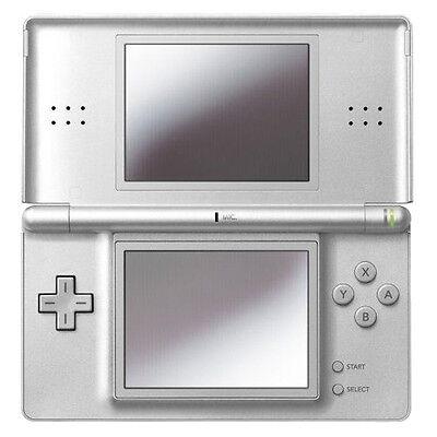 Nintendo DS Lite Metallic Silver Handheld System Very Good Condition