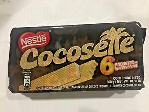 6-X-Cocosette-Cookies-Bars-Wafer-Coconut-Galleta-Rellena-de-Coco-Nestle-Savoy