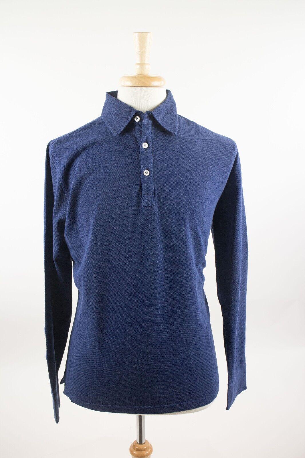 Nuova con Etichetta Davide Davide Davide Cenci Lussuoso Blu Navy 100% Cotton Casual 794ccf