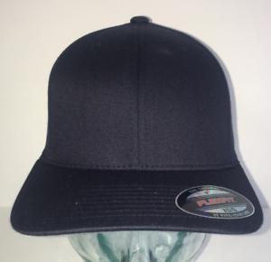 BRAND NEW BROWN FLEXFIT PLAIN STRETCHFIT BASEBALL CAP HAT VARIOUS SIZES