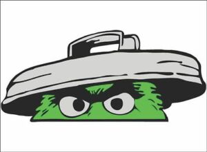Details About Oscar The Grouch Trash Peeper Funny Vinyl Vehicle Auto Graphic Decal Sticker