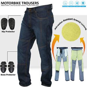 Motorbike-Motorcycle-Armoured-Trouser-Pants-Jeans-Reinforced-With-Aramid-Fibers