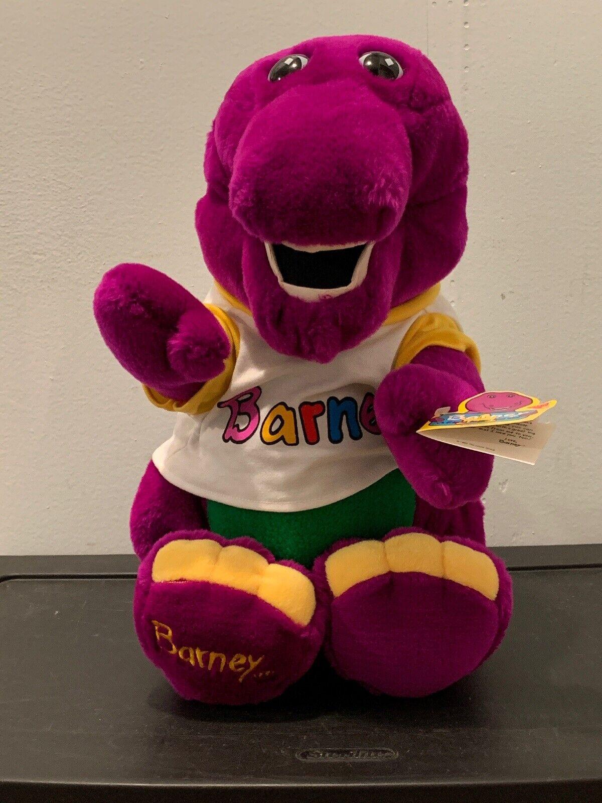 1992 Peluche Barney 20  alto púrpura Dinosaur Dakin Lyons Peluche Animales Grandes