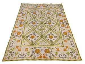 7X8-Signed-Stark-Needlepoint-Area-Rug-Square-Hand-Knotted-Wool-Carpet-6-6-x-8-5