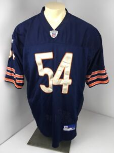 best website 715c2 db695 Details about Brian Urlacher #54 Stitched Patches Jersey - Reebok - Size 52  Authentic Bears
