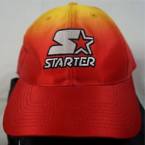 Rare Vintage STARTER Classic Spell Out Logo Two Tone Snapback Hat ... d40d1e833b3