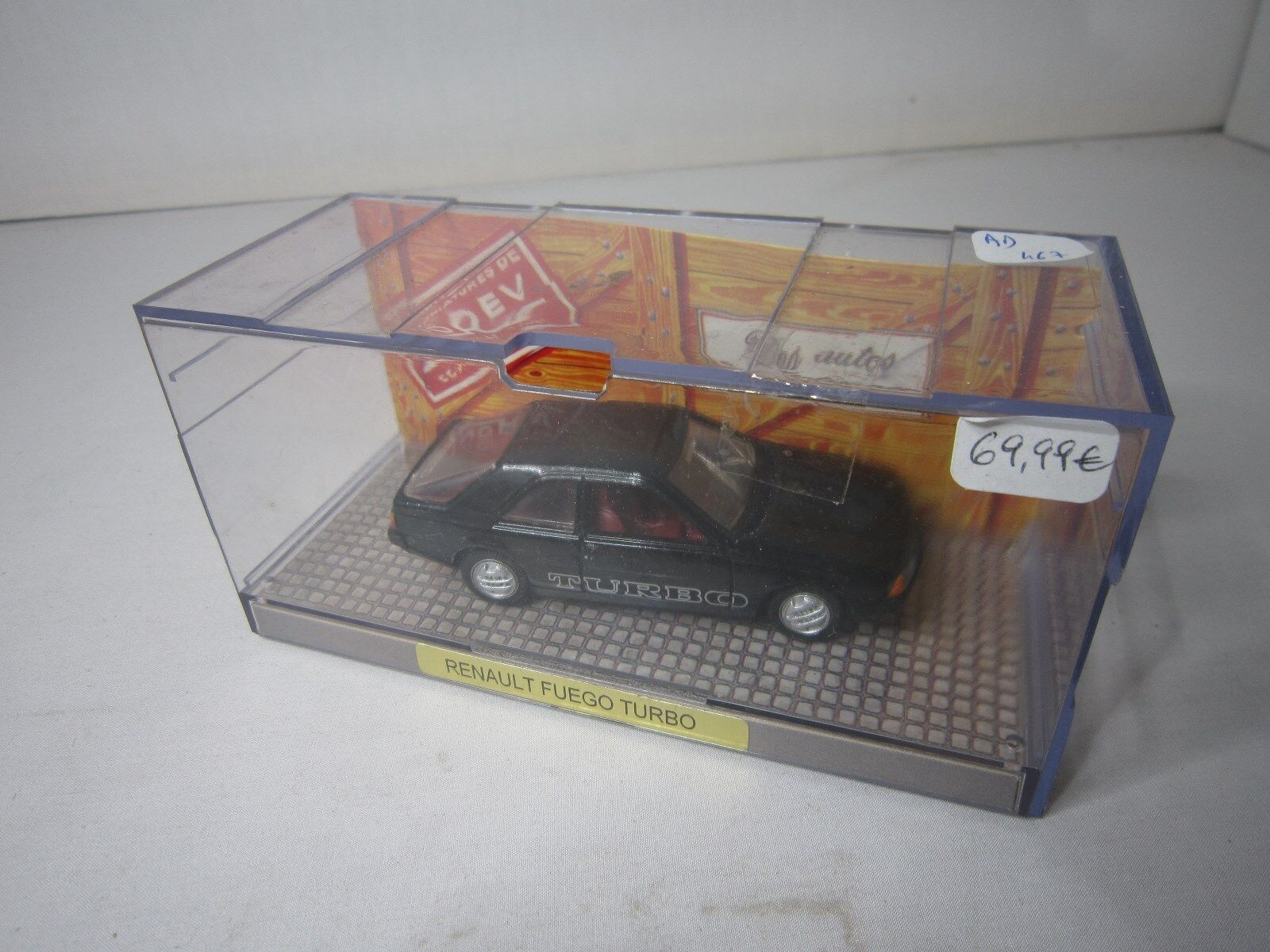 AD467 NOREV 1 43 RENAULT FUEGO TURBO DES AUTOS A COLLECTIONNER MINIATURES
