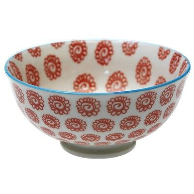 dotcomgiftshop SMALL FINE PORCELAIN JAPANESE BLOSSOM BOWL ORANGE SUNFLOWERS