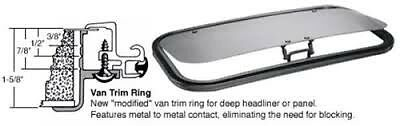 CRL/SFC 17 x 35 AutoPort Sunroof Universal Trim Ring - Solar High Performance Gl
