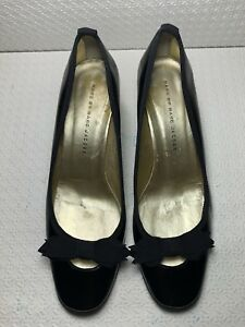 3b743cbc884 Marc By Marc Jacobs Women s Black Patent Leather Bow Heels Pumps ...