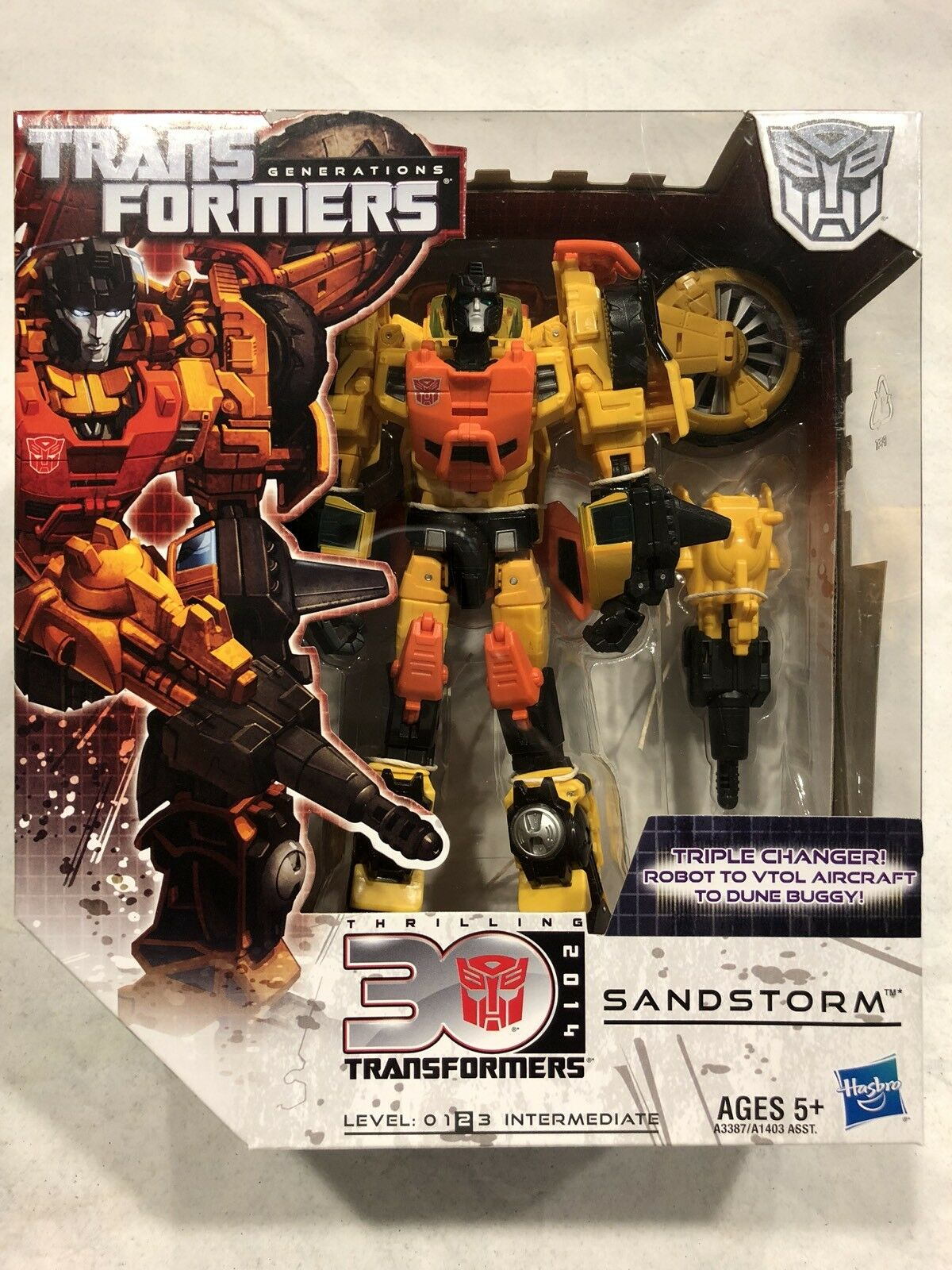 2013 Transformers G1 Classics 30th Generations Voyager Class SANDSTORM MISB