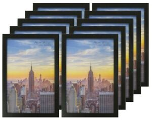 Details about Frame Amo 11x17 Black Wood Picture or Poster Frame, 1 inch  Wide, 1, 3 or 10 PACK