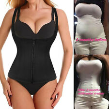 US Adjustable Strap Body Shaper Hook&eye Waist Cincher Tummy Reduced Trainer