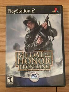 MEDAL OF HONOR FRONTLINE - PS2 - MISSING MANUAL - FREE S/H - (VV)