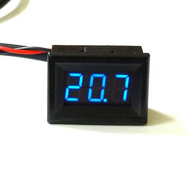 Mini LED Temperaturanzeige -30°+125°C Einbauthermometer blau rot grün gelb 12V