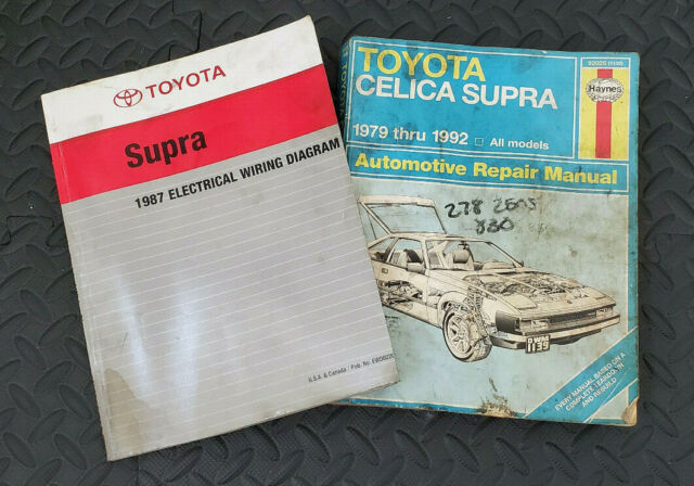 Toyota Supra 1987 Electrical Wiring Diagram And Repair Manual