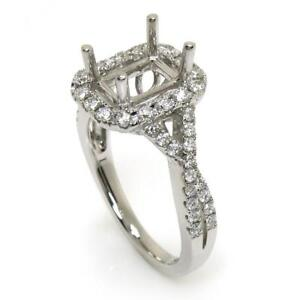 Halo-Engagement-Ring-Setting-For-Emerald-Cut-With-0-56-Ct-Diamond-Accents-14k