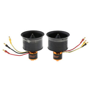 50mm Duct Fan 12 Blade Brushless Motor CW//CCW for RC EDF Jet Quad Accs Parts