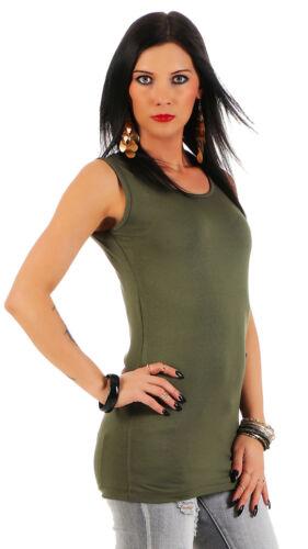 Damen Longshirt Tank Top Long Top Shirt Mellice