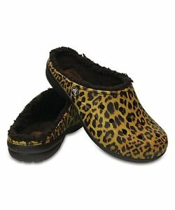 3c982170c Image is loading Crocs-Freesail-Graphic-Lined-Clog-Leopard-w-Brown-