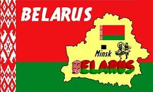 Bielorussie-Carte-amp-Drapeau-Souvenir-Nouveaute-Refrigerateur-Aimant-Neuf