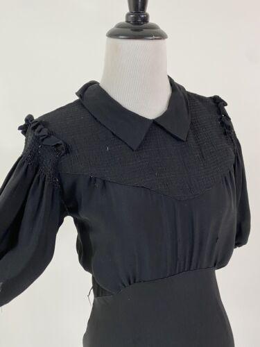 Vampy! VTG 1930s 30s Bias Cut Rayon Crepe Gown Dre