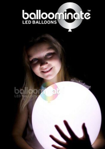 15 x LED Balloons Party Products White Light Up Balloons