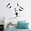 Love Couple Wallpaper Kissing Lover Man Women Wall Decal Home Bedroom Decoration