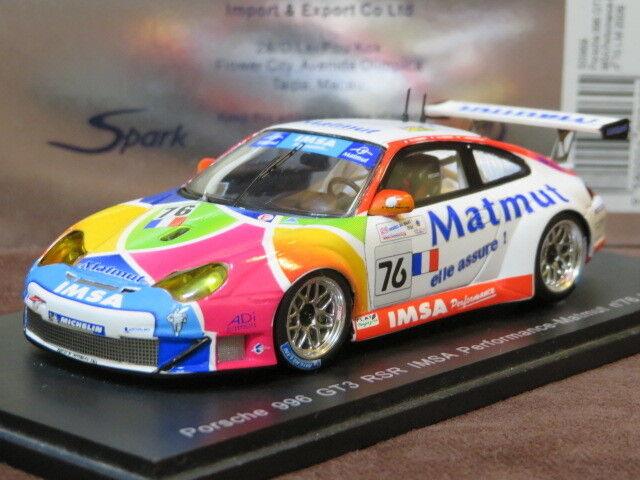 Spark 1/43 Porsche Porsche Porsche 911 996 GT3 RSR #76 Le Femmes 2006 S0969 | Beau  50fcc9