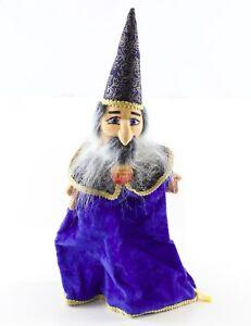 Steiff-Hand-Puppet-Wizard-Zauberer-255519-16-ca-1980s-1990s-w-Tag-amp-Button