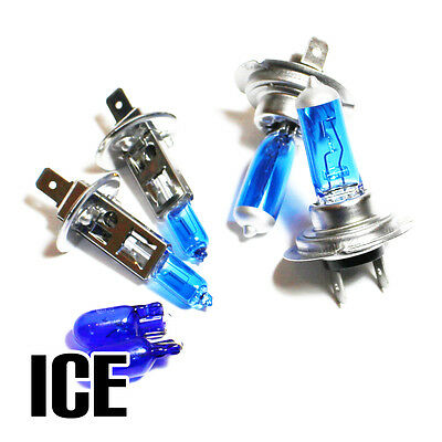 VW Polo 6N2 H1 H7 501 55w ICE Blue Xenon HID High//Low//Side Headlight Bulbs Set