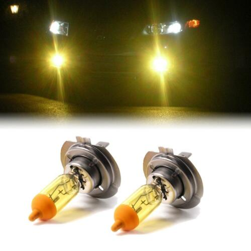 YELLOW XENON H7 HEADLIGHT LOW BEAM BULBS TO FIT Vauxhall Vectra MODELS