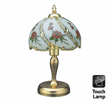 40CM VINTAGE STYLE TABLE TOUCH BEDSIDE LAMP DESKTOP BEDROOM POLISHED BRASS LIGHT