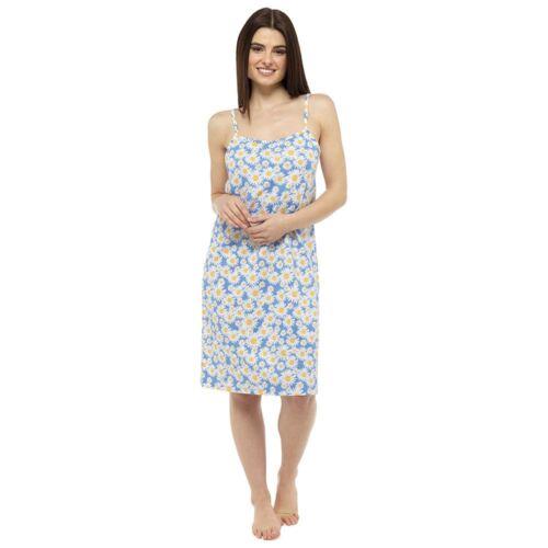 Ladies//Da Donna Cotone Chemise Camicia Da Notte Camicia da Notte Rosa//Bianco//Viola taglia 8-22