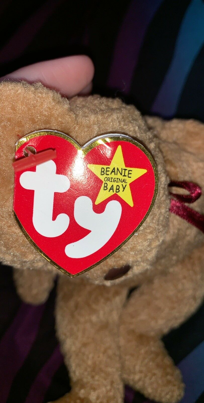 Ty Beanie Baby CURLY The Bear RARE RARE RARE WITH ERRORS Excellent Condition 767efe