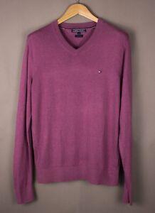 TOMMY-HILFIGER-Men-Cotton-Linen-Knit-Jumper-Sweater-Size-M-ATZ1100
