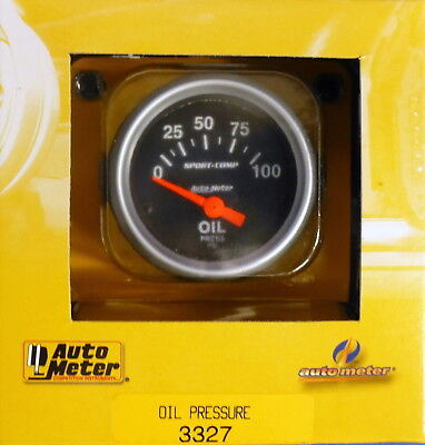 Electrical Autometer 3327 Sport-Comp Oil pressure Gauge  2-1//16 in.