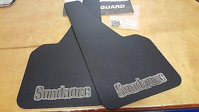 NOS OEM Mopar Plymouth Sundance Splash Guards Mud Flaps 1986-1994 82300290