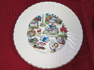 "COLLECTOR PLATE 9 1/2"" WEST VIRGINIA"