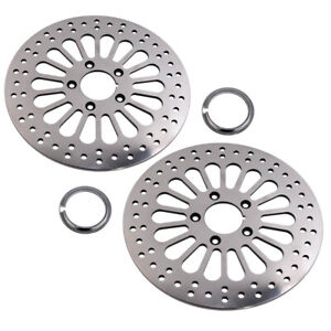 2pcs-11-5-034-Front-Disc-Drilled-Brake-Rotor-Disk-For-Harley-Dyna-Sportster-Softail
