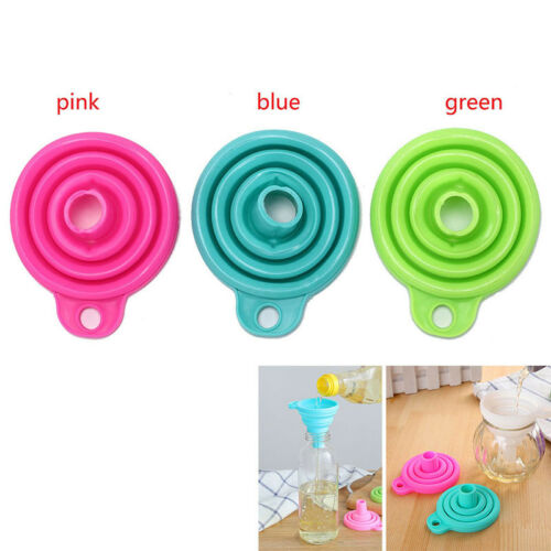 silicone gel collapsible practical foldable funnel hopper kitchen tools PLCA