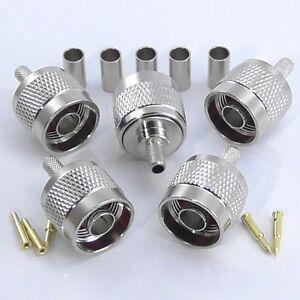 5pcs-N-Type-Crimp-Plug-Male-for-RG58-RG142-RG223-LMR195
