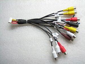 Dual RCA Cables Pre-Amp Outputs,Video Input DV1014BH, DV714BH