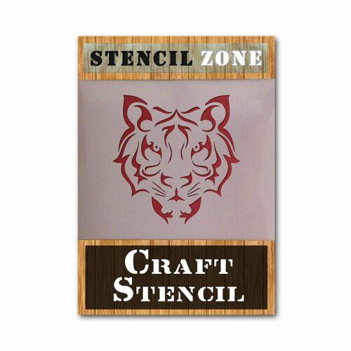 Cara De Tigre Animal Airrush Pintura Pared Stencil