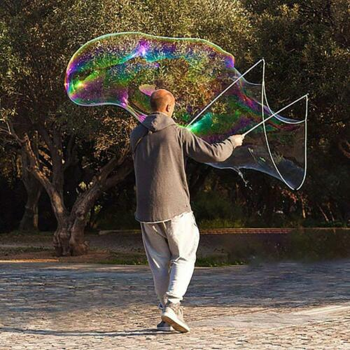 Giant Bubble Maker Wand Kit Bubbles Maker Set Outdoor Fun Garden Game SU