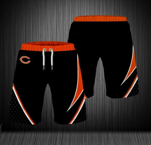 Chicago Bears 3D Loose Sport Shorts Cool Summer Football BEACH Short Pants