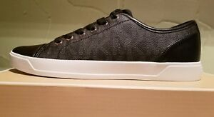 NEW-MICHAEL-Michael-Kors-Women-039-s-City-Sneaker-MK-Signature-Size-7-NIB-BLACK